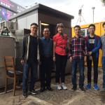 Professor Lidia Morawska visited the sampling site at the Cross-harbor Tunnel in Hong Kong (from left to right: Mr. Xiaopu Lyu, Prof Hai Guo, Prof. Lidia Morawska, Dr. Tengyu Liu, Mr. Haoxian Lu and Mr. Dawen Yao). Lidia Morawska教授参观了香港海底隧道的抽样点(从左至右:吕效谱先生,郭海教授,Lidia Morawska教授,刘丹宇博士,陆浩贤先生,姚大文先生