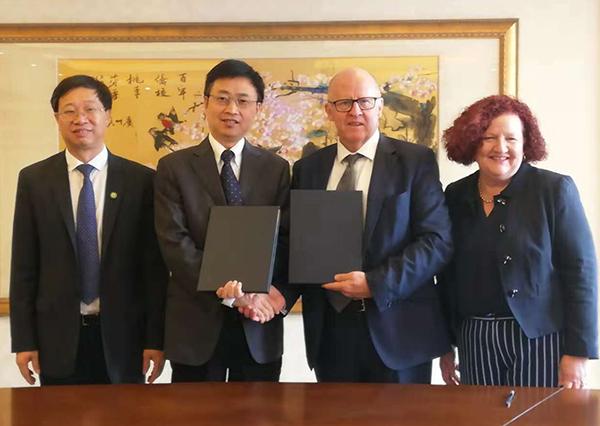 (L to R: Prof Xianzhong Song, Prof Hong Zhang, Prof Scott Sheppard, Prof Margaret Sheil)